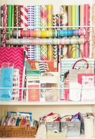 gift paper wrap 25 ways to organize your gift wrapping one thing by jillee