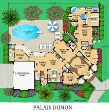 Luxury Mansion House Plan First Floor Floor Plans Palais Dumon Dallas Design Group