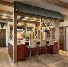 Rustic Wood Kitchen Island by Kitchens Rustic Kitchen Decor With Black Stool And Rustic Wood