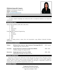 sample of resume for bsba ojt resume ixiplay free resume samples