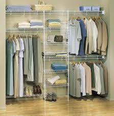 interior interesting small walk in closet decoration using white