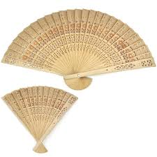 wooden fans 20cm home decoration crafts bamboo wooden fan summer accesory