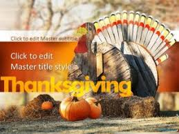 thanksgiving celebrations ppt template