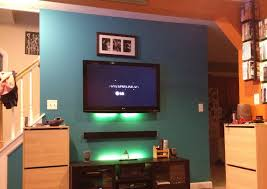 Tv Accent Wall by Blue Accent Wall In Living Room Cool Accent Walls Steps To
