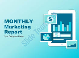 monthly report template ppt monthly marketing report powerpoint presentation with slides