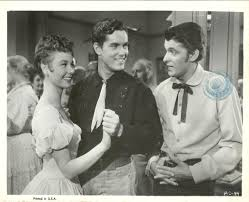 mitzi gaynor jeffrey hunter and keefe brasselle as u0027three young