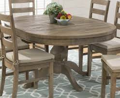 furniture rustic wood oval dining table and chair with beige