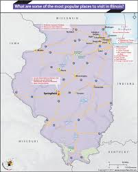 Illinois State Map With Cities by What Are Some Of The Most Popular Places To Visit In Illinois