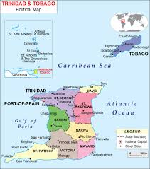 Map Of Canaan Maps Of Trinidad And Tobago Bizbilla Com