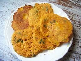 cuisine pieds noirs pancakes de farine de riz au curry et carottes sans gluten
