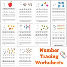 number tracing worksheets free printable itsy bitsy fun