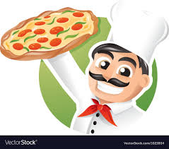 chef pizza pizza chef royalty free vector image vectorstock