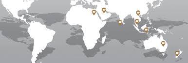 Australia On A World Map by International U2013 The Coffee Club
