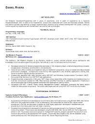 Web Services Experience Resume Daniel Rivera Net Resume