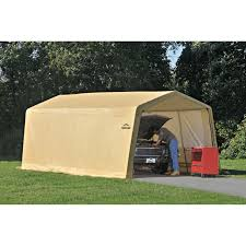 Carport Canopy Heavy Duty Shelterlogic 10 X 20 Ft Deluxe All Purpose Canopy Carport Hayneedle