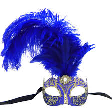 blue masquerade masks venetian mask in london for blue and gold princess feathered