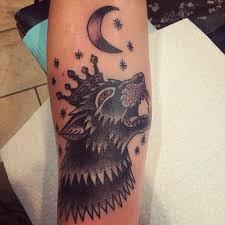 basic direwolf sigil of house stark game of thrones tattoo