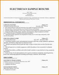 electrician resume sample jennywashere com