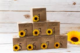 Sunflower Wedding Centerpieces by Table Numbers Wedding Sunflower Wedding Centerpieces Table
