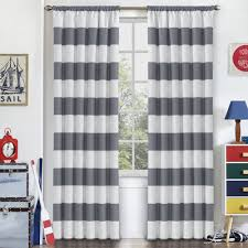 Curtains With Thermal Backing Viv Rae Jameson Striped Blackout Thermal Rod Pocket Single