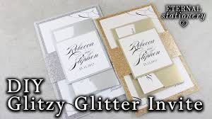 wedding invitations glitter how to make glitter wedding invitations with belly band