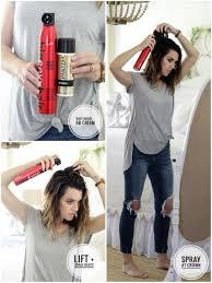 Hair Color Spray For Roots How I Style My Hair Easy Long Bob Hair Tutorial Plus Cut