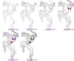 draw spiderman characters art tutorials
