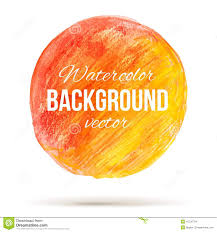 sunny watercolor circle with color transition from red to welloy