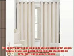 66 Inch Drop Curtains Paoletti De Vere Chenille Jacquard Woven Lined Eyelet Curtains