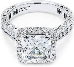 princess cut halo engagement ring tacori royalt princess cut halo engagement ring ht2607pr