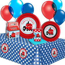 personalized party supplies tec the tractor basic personalized party pack for 12