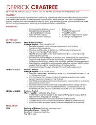 business resume examples business analyst resume example