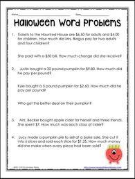 free halloween math worksheets 4th grade math worksheets