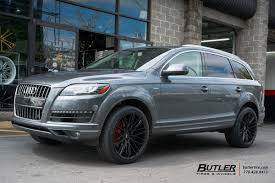 Audi Q7 Matte Black - audi q7 with 22in savini bm13 wheels exclusively from butler tires