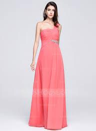 chiffon one shoulder floor length bridesmaid dress with ruffles