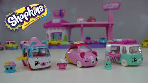 pink sparkly cars new shopkins cutie cars 3 pack soft swerve strawberry scoupe