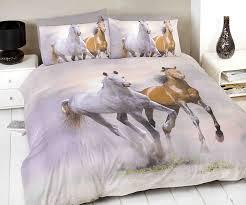 spirit horse duvet cover quilt bedding set multi double size