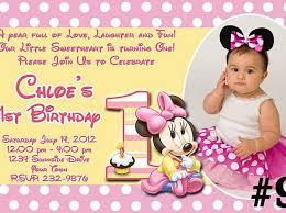 minnie mouse first birthday invitations badbrya com