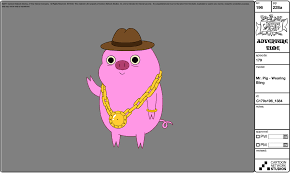 image modelsheet mr pig wearingbling png adventure time wiki
