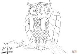 steampunk owl inspired by bubo from clash of the titans coloring