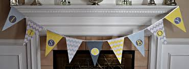 baby shower banner diy baby shower pennant banner tutorial my of style my