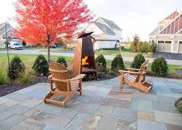 a new bluestone entryway u0026 patio makes a great first impression