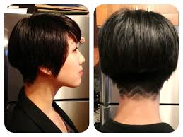 short hair in back long in front hairstyles women short front long back bob haircuts long in front