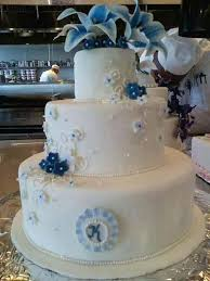 goes wedding wonderful blue and white wedding cakes decoration