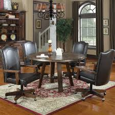 Kitchen Table Sets With Caster Chairs by Emerald Home Castlegate 5 Piece Round Dining Set With Caster