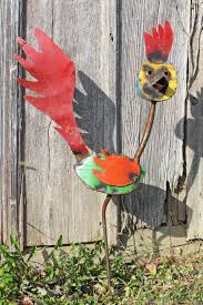 recycled metal roadrunner yard accents
