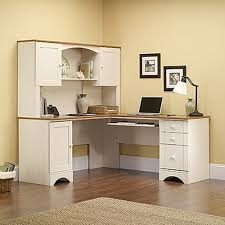 Computer Desk Ebay sauder 403793 harbor view antiqued white corner computer desk ebay