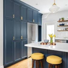 blue kitchen cabinets and yellow walls blue and yellow kitchen design ideas