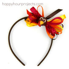 turkey headband thanksgiving turkey bow headband with the bowdabra happy hour