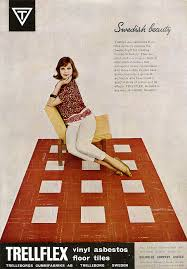 Retro Flooring by Trellflex Vinyl Asbestos Floor Tiles Advertising